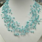Fancy style blue Cultured Pearl NECKLACE
