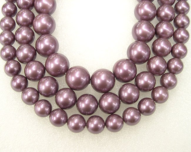 HUGE 17'' DEEP PURPLE 12MM SOUTH SEA SHELL PEARL NECKLACE