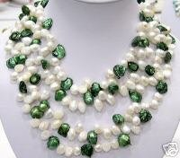 40'' 2-pcs 9-13mm 2-color cultured pearl Necklaces