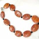 Huge 17'' 25-35mm coral necklace