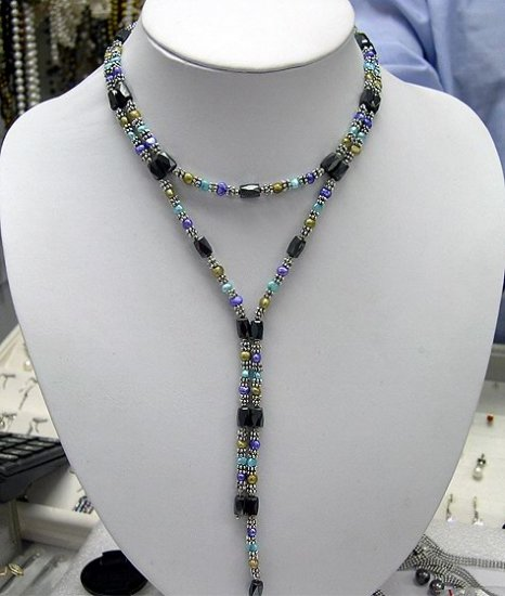 Multifunctional magnet& cultured pearl Necklace
