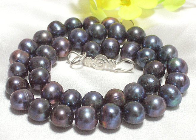 ROUND 10MM-11MM PEARL NECKLACE 925
