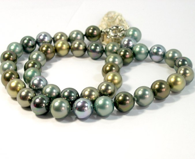 SUPERB 20'' 14MM SOUTH SEA SHELL PEARL NECKLACE