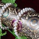 UNIQUE 2-PCS WHITE Genuine Cultured Pearl Bracelets