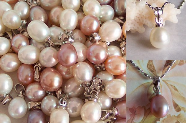 WHOLESALE SUPERB 30GRAINS GENUINE PEARL DROPS 925S