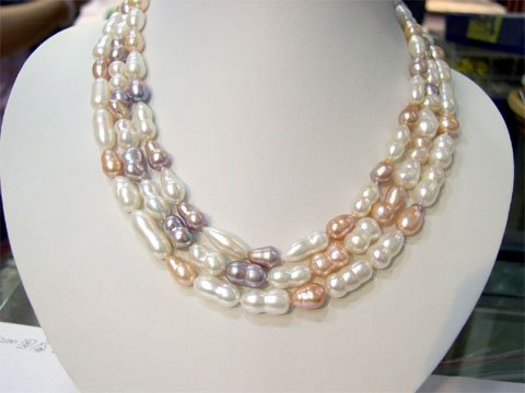 particular 16-18'' gourd shape FW CULTURED PEARL NECKLACE