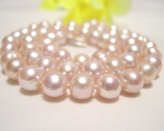 single 16'' 7-8mm LAVENDER cultured pearl NECKLACE