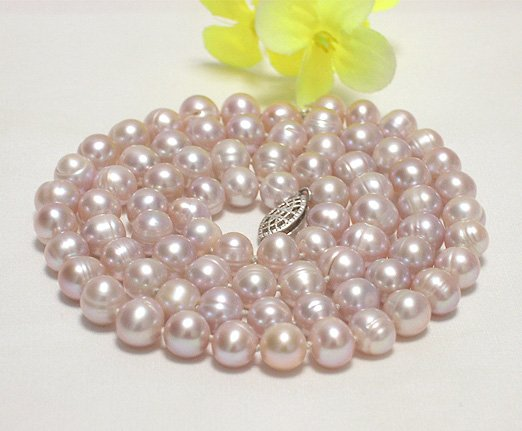 single 24'' 7-8mm lavender cultured pearl necklace