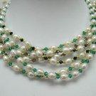 wholesale Charming 6-pcs cultured pearl gems necklaces