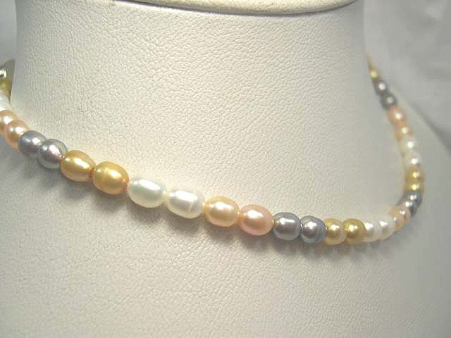 SINGLE 17'' multicolor Cultured Pearl Necklace