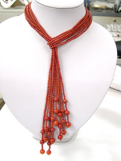 wholesale 4 pcs 41'' red coral necklaces