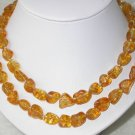 Graceful 34'' 10x13mm champagne crystal beads necklace