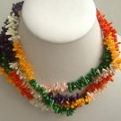 4 strand MIX small coral branch SS925 clasp necklace