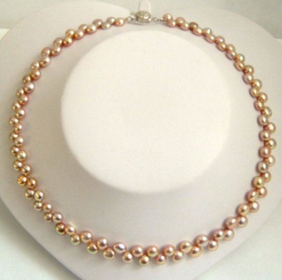 UNIQUE STYLE! GRACEFUL DOUBLE ROWS PEARLS NECKLACE