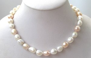 baroque great luster multi-color freshwater pearls