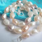 Baroque 9x12mm Double strand Fresh Water Pearl necklace