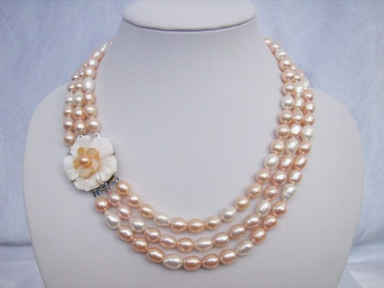 Stylish 7-8 mm Fresh Water Pearls Double Ply Necklace