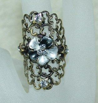Rhinestone ring vintage