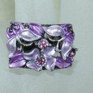 Rhinestone ring rec purple