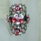 Rhinestone ring red