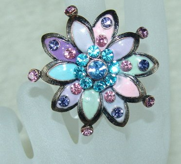 Rhinestone ring pretty purple