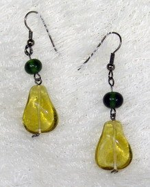 fancy yellow dreamstone earring