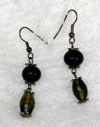 fancy black dreamstone earring