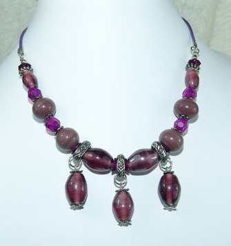 fancy purple dreamstone necklace