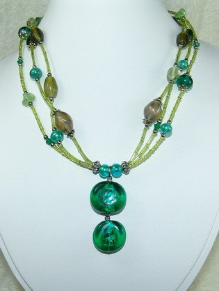 special green dreamstone necklace