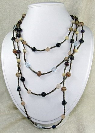 super long dreamstone beaded necklace