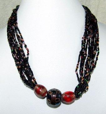 strands of black dreamstone necklace