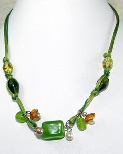 pretty apple green dreamstone necklace