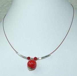 red dreamstone pendant chocker
