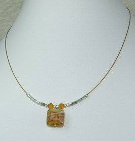 yellow dreamstone pendant necklace