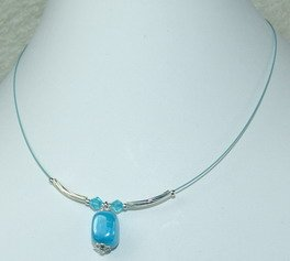 sea blue dreamstone pendant necklace