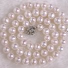 7-8mm PINK Freshwater Pearl Necklace Unique Clasp