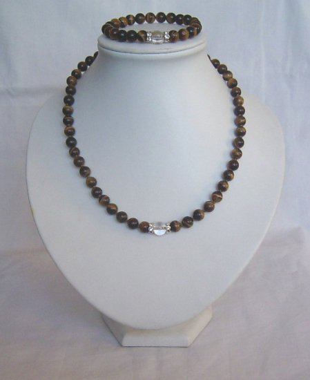CLASSICAL OPAL(tigereye) NECKLACE AND BRACELET SETS