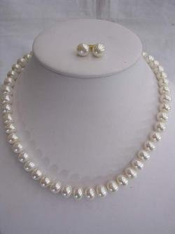 10-12MM Large White FW Pearl Necklace