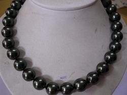 15mm Rare black Tahitian Sea Shell Pearl Necklace
