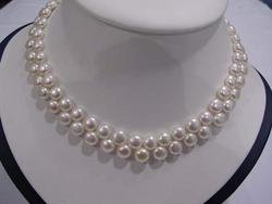 2 row super Fresh water pearl necklace