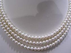 55'' 8mm super fresh water white pearl necklace
