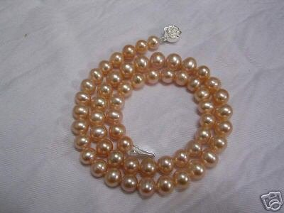 9mm pink fresh water pearl necklace