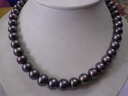 Rare Large 13mm Black Fresh Water Pearls Necklace