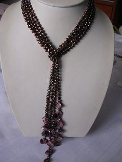 nature nice 45'' brown fresh water pearl necklace