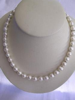 super 9mm white pearl necklace