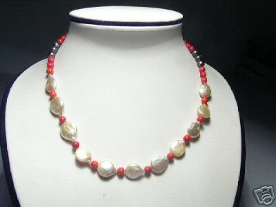 Baroque 2-Srd Pink FW Pearls&Crystal Necklace