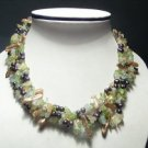 Baroque Real 4-Srd Coffee FW Pearls&Crystal Necklace