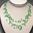Charming Real 15-Srd Green FW Pearls Neckalce