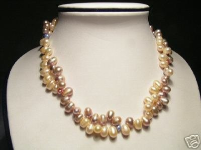 Classy Colorful FW Pearls Necklace
