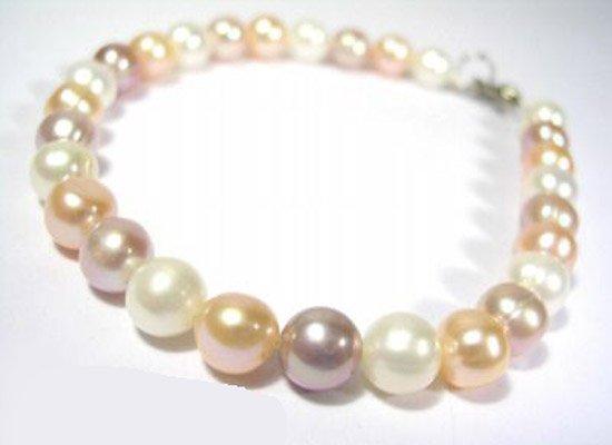 Exquisite multicolor pearl bracelet